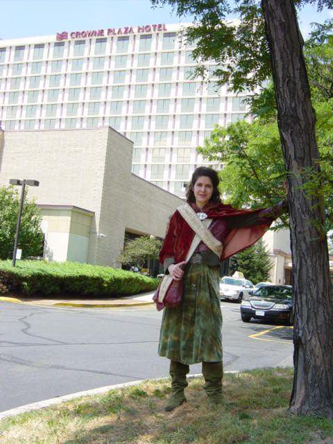 Anna of Mirkwoodside outside Crown Plaza Hotel